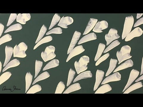 Botanical design painted with Annie Sloan Detail Brushes