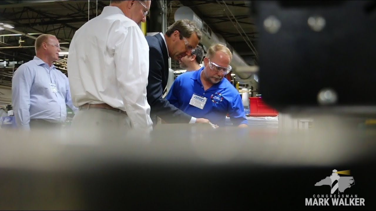 Rep  Mark Walker Visits Payne Oil and RegO Products in Alamance County