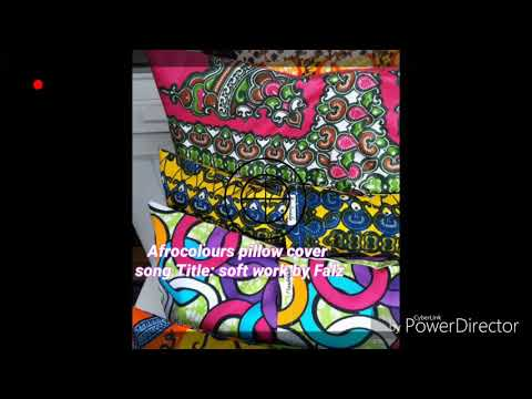 Pillow cover with African Fabric