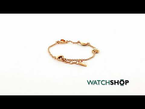Guess Jewellery Ladies' Rose Gold Plated Bracelet (UBB71332)