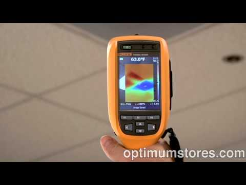 Fluke Ti Thermal Imaging Camera Series: IR Fusion view for Building Diagnostics