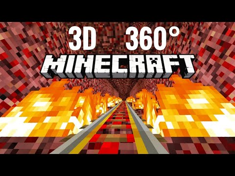 3D VR 360 Video Minecraft Roller Coaster Halloween Simulation PSVR 4K