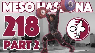 Meso Hassona Part 2 (218kg Clean and Jerk) - 2018 Asian Juniors Training Hall [4k 50]