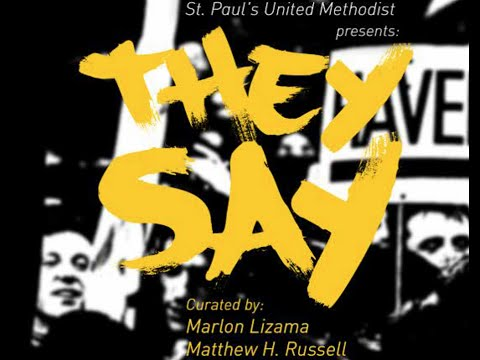 'They Say' Iconoclast Poetry Performance - MFAH - St. Paul's Methodist - Project CURATE - envision!