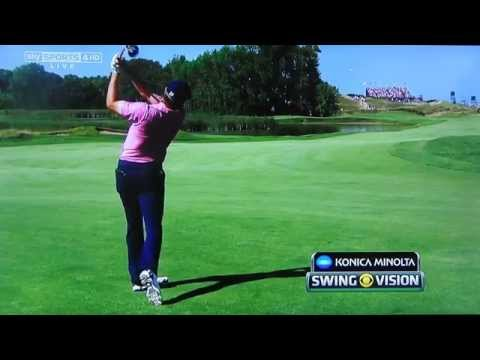 Jordan Spieth golf swing (down-the-line view) plus Butch Harmon analysis, USPGA August 2015
