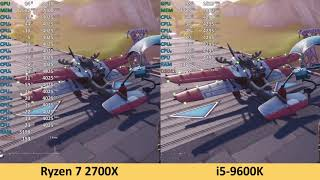 Ryzen 7 2700X vs i5-9600K - Fortnite: Battle Royale - Benchmark Test (RTX 2080 Ti)