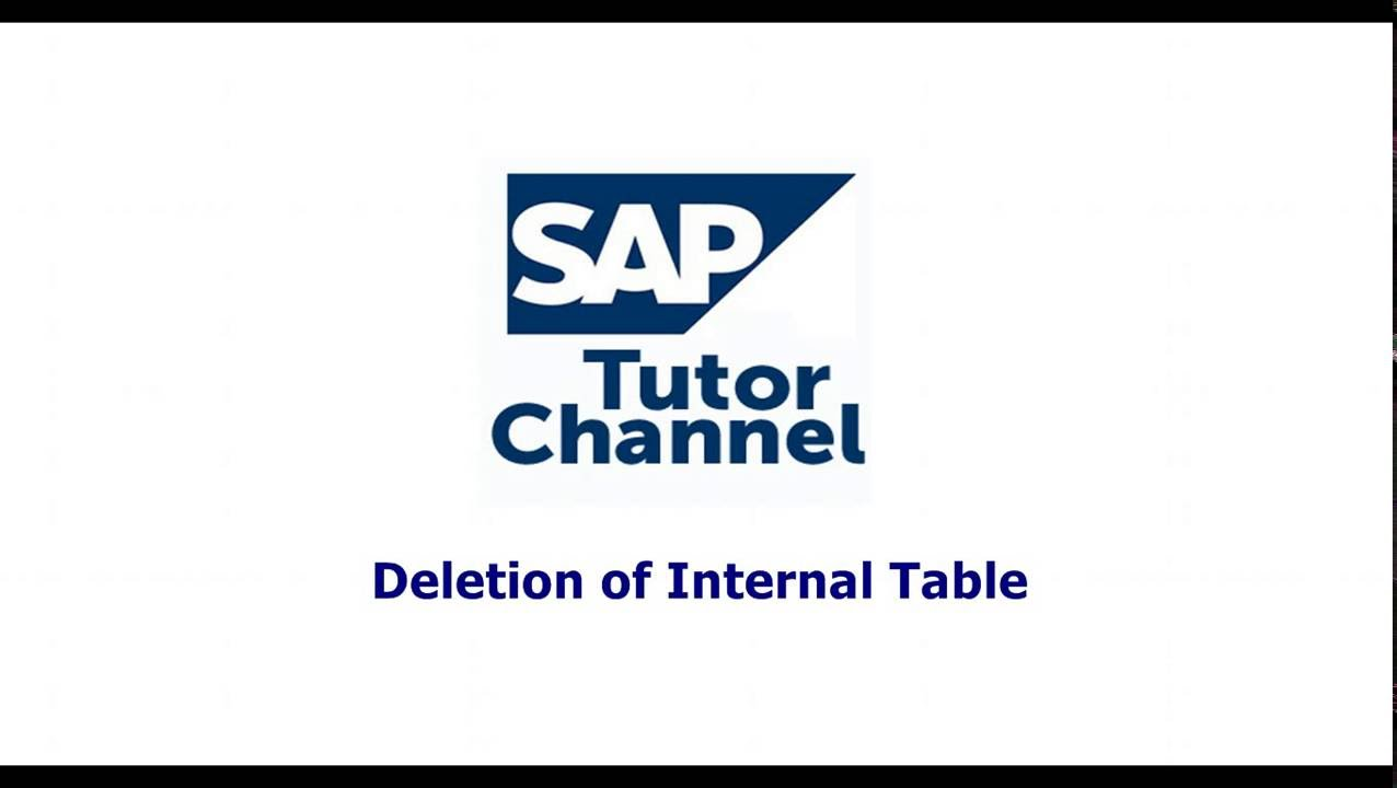 deletion of internal table