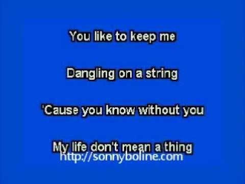 elvis karaoke please don't drag that string around