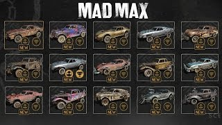 Mad Max - All Archangels Cars Gameplay (All Magnum Opus Upgrades) SHOWCASE