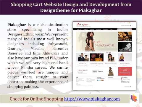 Online Shopping Cart Website Designers, Developers in Bangalore, India