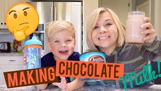 HOW TO MAKE CHOCOLATE MILK WITH A TODDLER (w/Ollie!)🍫