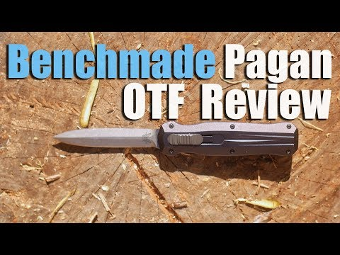 Benchmade Pagan OTF Review.  Kinda Like The Infidel But Full Chisel.