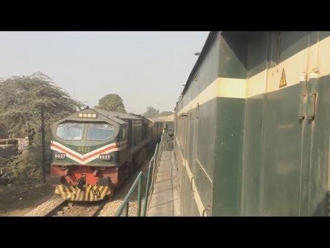 Pakistan Railway ||  Tezgam Express Overtaking Night Coach Express At  Shahdara, Lahore