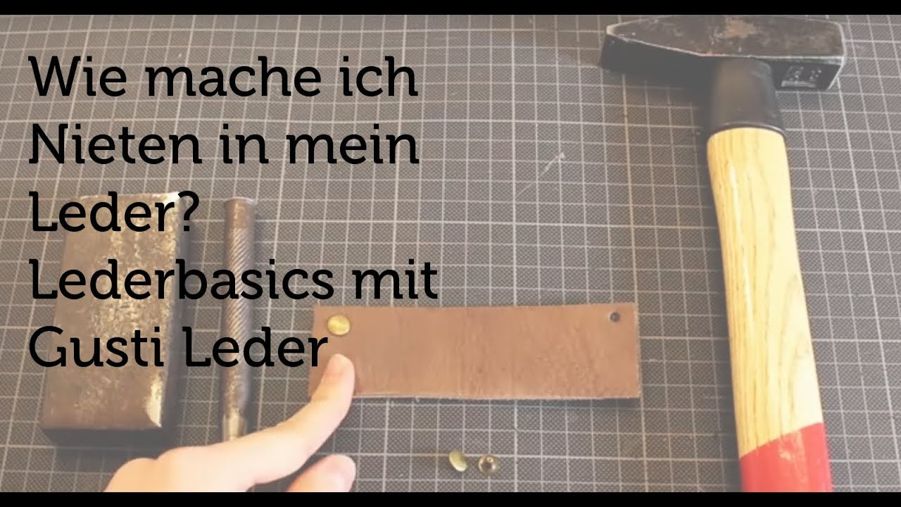 tutorial wie mache ich nieten in mein leder lederbasics lederbearbeitung diy gusti. Black Bedroom Furniture Sets. Home Design Ideas