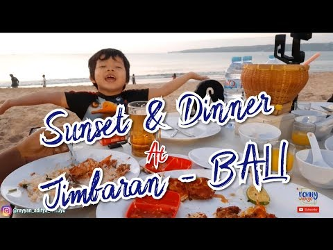 Sunset And Dinner At Jimbaran Beach | The Most Romantic Place | RYNVlog 6 Days In Bali