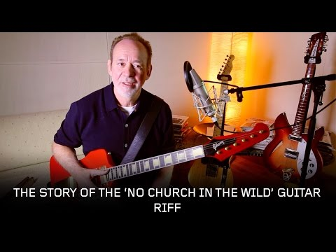 "Phil Manzanera - The Story of the 'No Church In The Wild"" Guitar Riff + Guitar Tutorial"