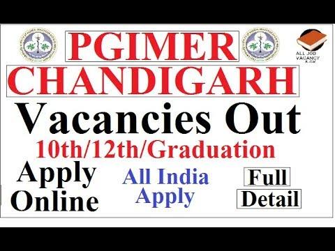 PGIMER CHANDIGARH Vacancies