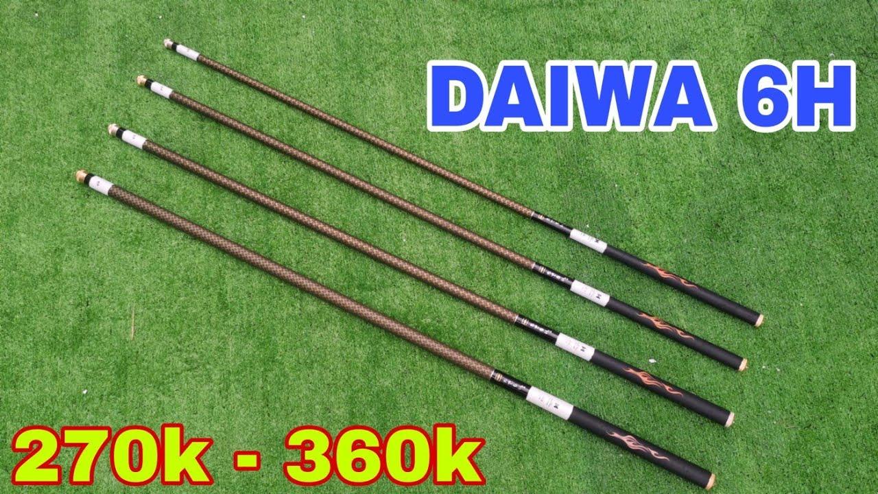 ( 270k - 360k ) || Cần Câu Tay Daiwa 6h Carbon Xoắn