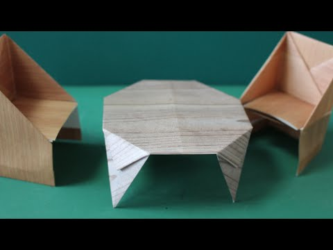 """達??達?造達??達?続達?属達??達?村達??達?束 達??脱??達??巽卒?""""Dining table"""" Origami - YouTube"""
