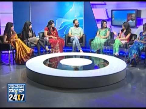 Seg _ 1 - Guru Prasad with Suvarna girls - 10 Mar 2013 - Suvarna News