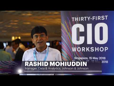 #CIO2018 – Rashid Mohiuddin, Manager, Data & Analytics, Johnson & Johnson