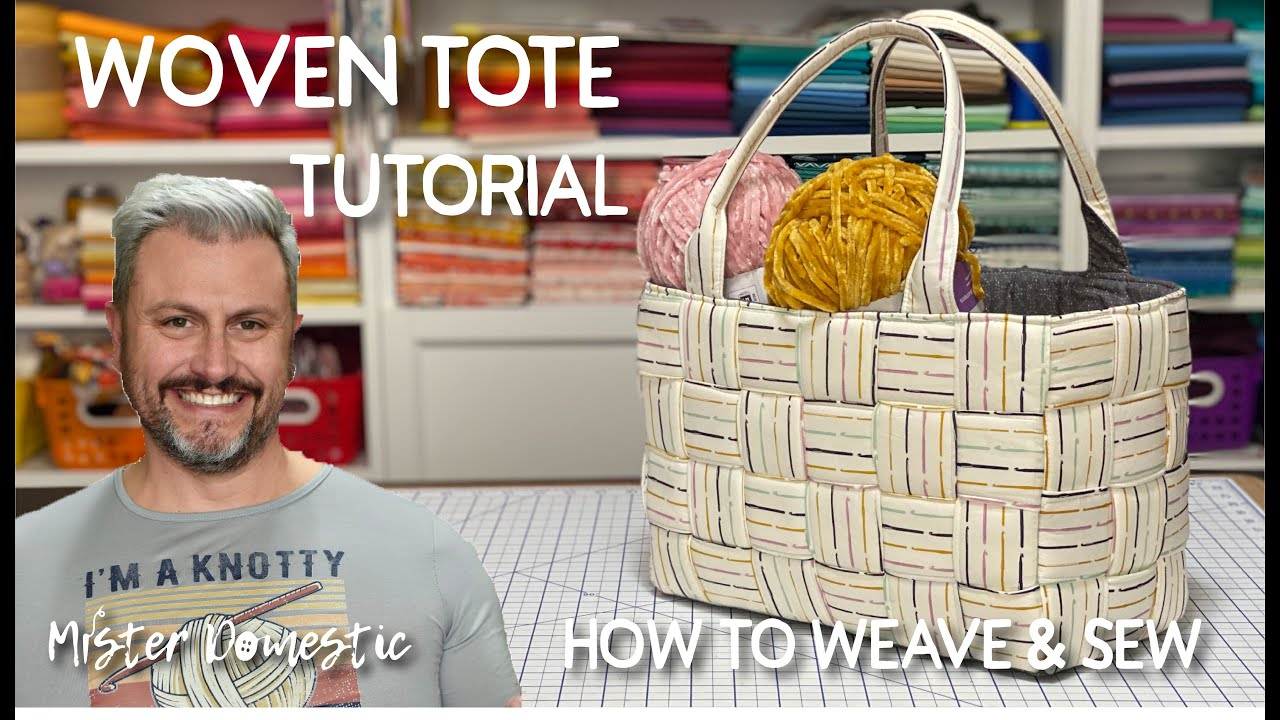How to Sew a Woven Tote with Mister Domestic