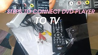 STEPS TO CONNECT  DVD PLAYER TO LED TV, LCD TV, SMART TV, HOW TO CONNECT DVD PLAYER TO TV