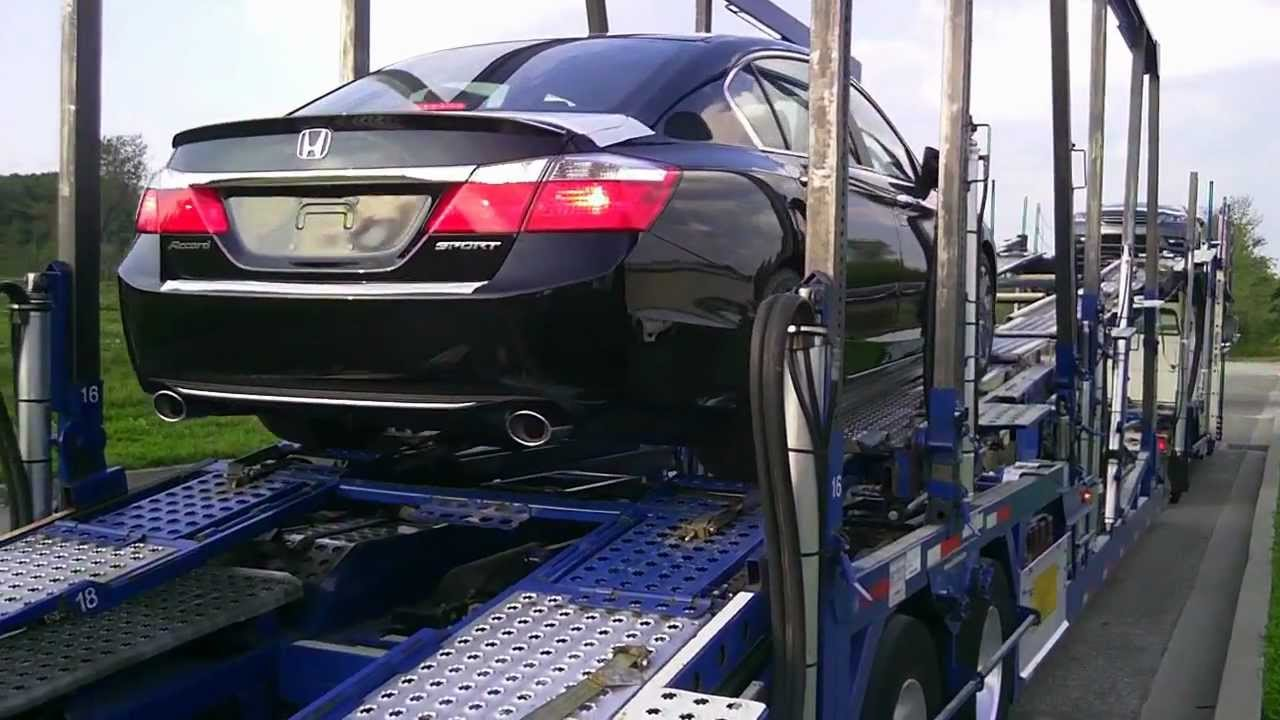 Brand Spanking NEW 2013 Honda Accord Bianchi Honda Erie PA Reveal Off  Trailer