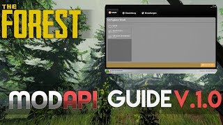MODapi GUIDE 2018! - The Forest (V.1.0)