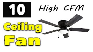 10 Best High cfm Ceiling Fan with Lights