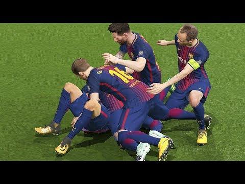 Chelsea vs Barcelona UEFA Champions League 20/02/2018 Gameplay