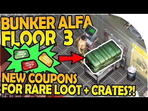 NEW BUNKER ALFA FLOOR 3 + COUPONS for RARE LOOT and CRATES - Last Day on Earth Survival Update 1.5.6