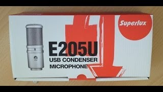 Superlux E205U USB Kondensatormikrofon Kurzreview deutsch
