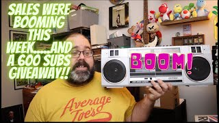 Boomin good sales this week on ebay...and a 600 subscriber givaway!! видео