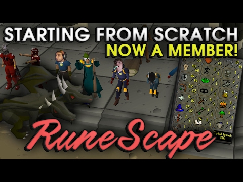 GRINDING AND MEMBERSHIP - Old School Runescape 2007 - Starting from scratch!