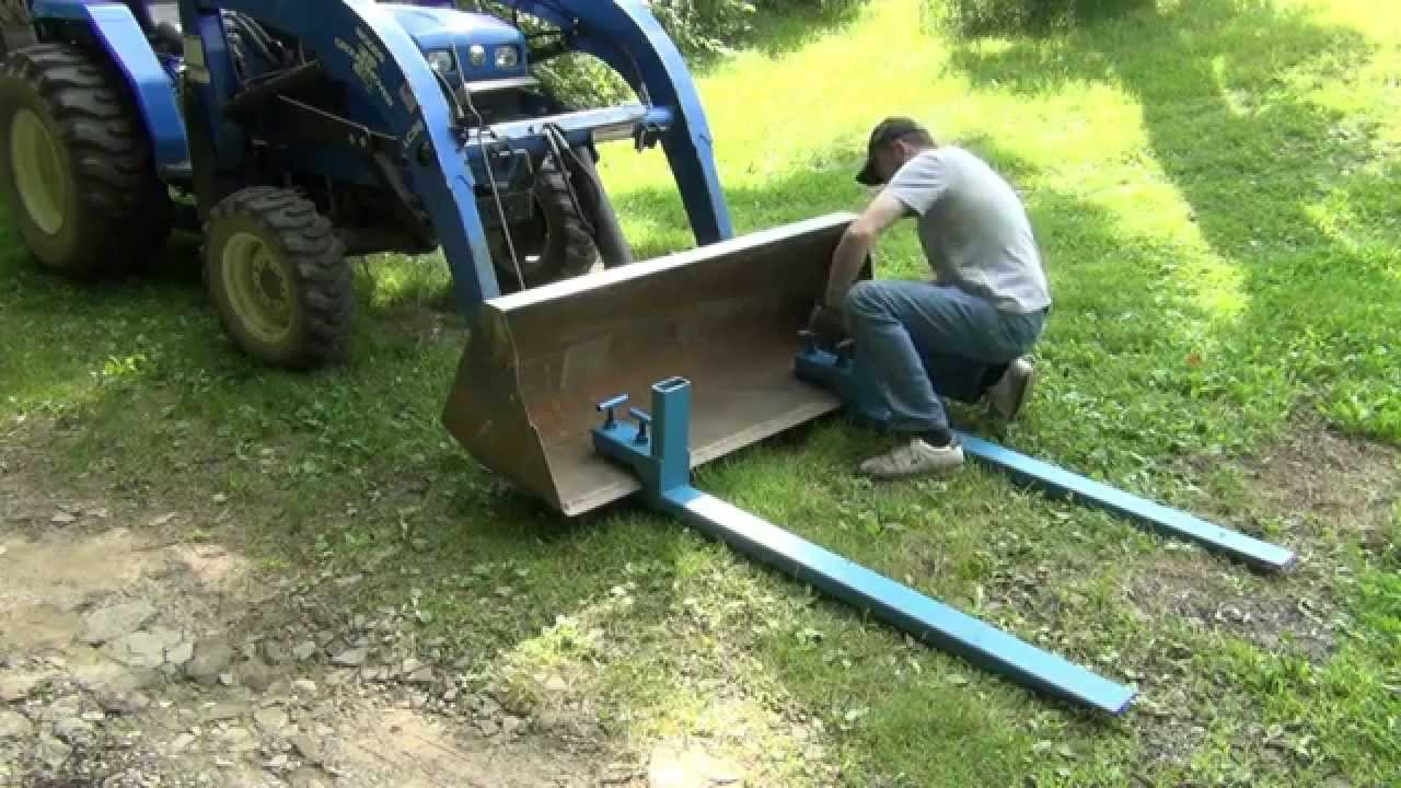 Tractor Bucket Forks : Homemade bucket forks ftempo