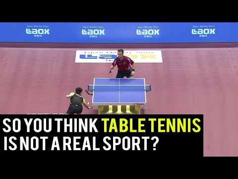 Think Table Tennis is not a real sport? Then watch this!