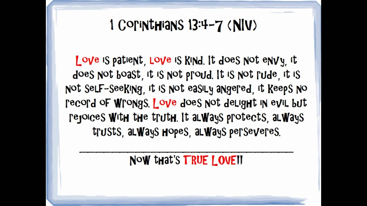 Love Is Patient Quote Bible Quotes On Love  Pt.1 Of Bible Verses On Love  Youtube