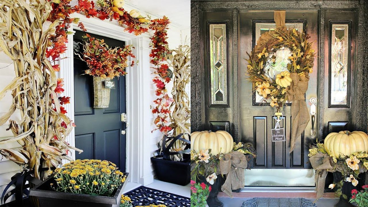 33 Cute And Inviting Fall Front Door Decor Ideas Front Door Design Youtube