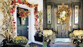 33 Cute And Inviting Fall Front Door Decor Ideas | Front door Design