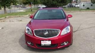 2017 Buick Verano Sedan Sliding Glass Tilt Sunroof Red Oshawa ON Stock #170130