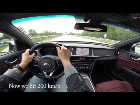 KIA Optima GT Sportswagon On Autobahn