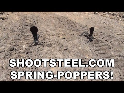 shootsteel.com Spring-Poppers!  High Quality Auto-Reset Steel Targets