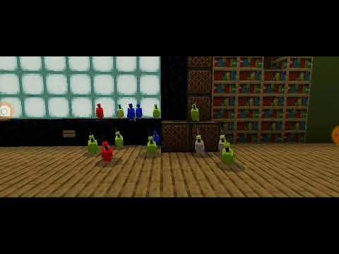 Minecraft鸚鵡舞蹈音樂光盤點唱機動畫 - YouTube