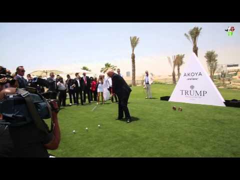 Donald Trump Hits First Drive at Akoya by Damac - Trump International Golf Club Dubai