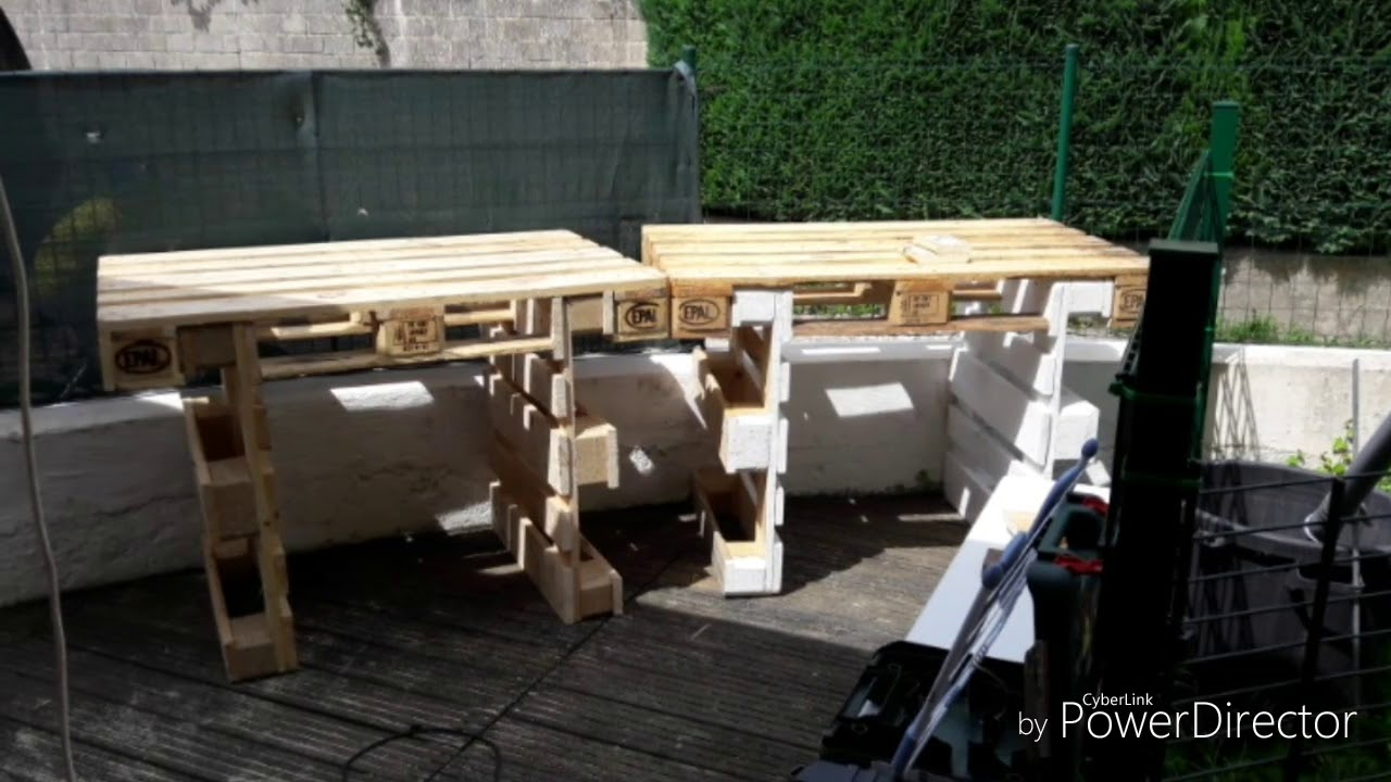 Outdoor Küche Aus Paletten Bauen : Grillplatz aus europaletten selber bauen youtube