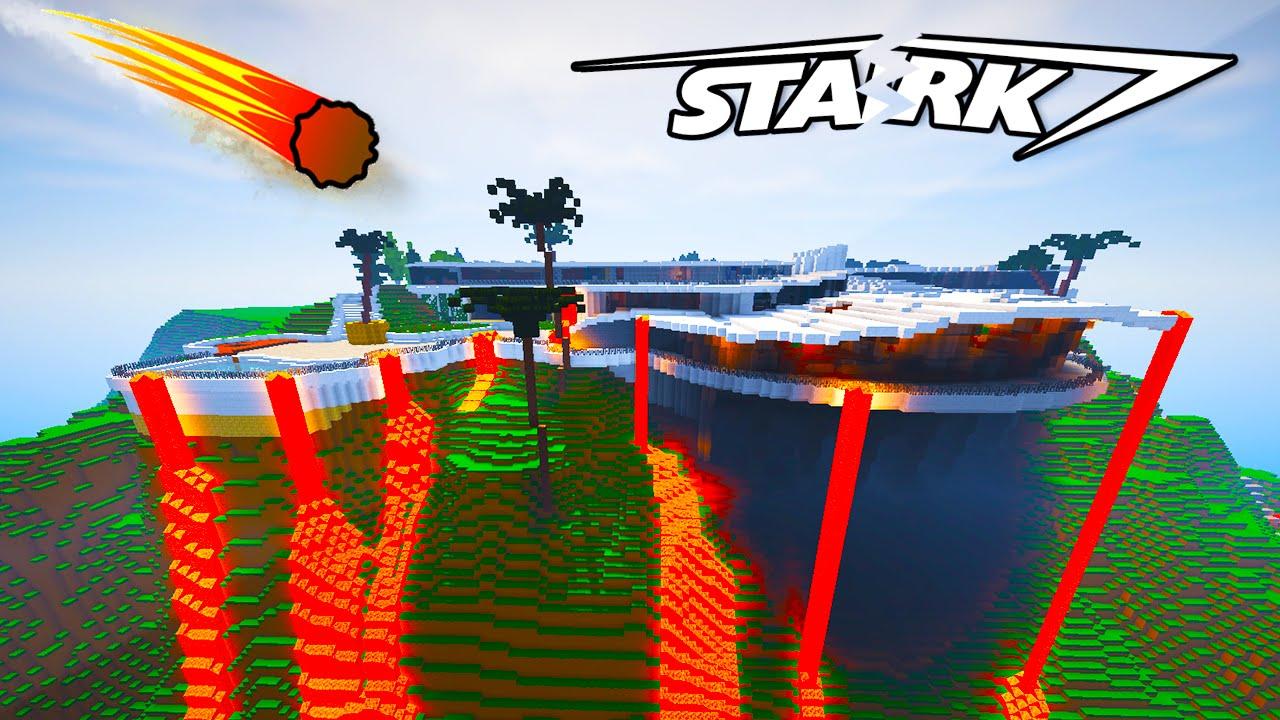 Minecraft  Stark Mansion Vs Natural Disasters