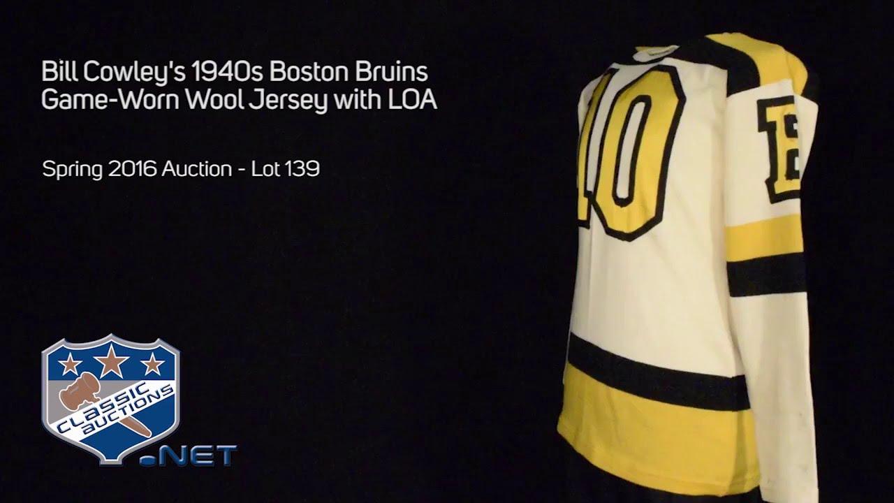 best sneakers 88bce 88de7 Bill Cowley's 1940s Boston Bruins Game-Worn Wool Jersey with LOA