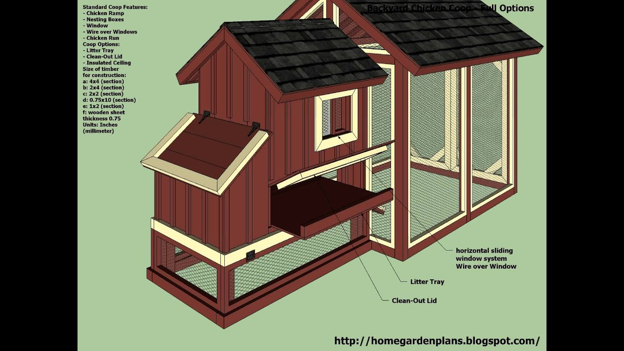 S101 backyard chicken coop plans how to build a for Backyard chicken coop plans