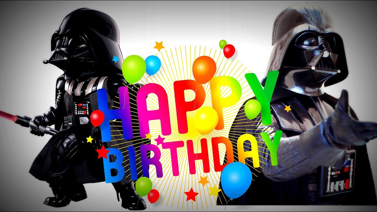 The Force Awakens Darth Vader Sing You A Happy Birthday Song Youtube